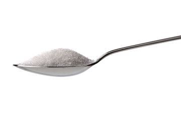 Sugar or salt on a teaspoon
