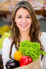 Healthy female shopping