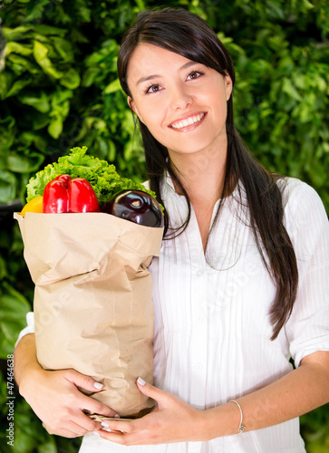 Woman buying fresh food