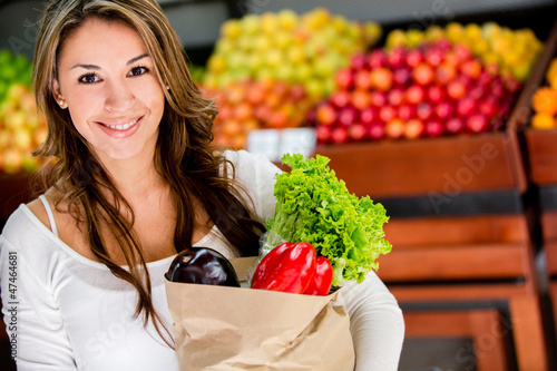 Woman at the local market