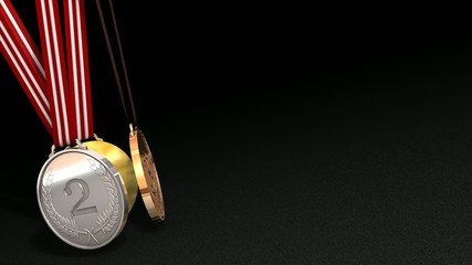 Sport medals animation, matte included.