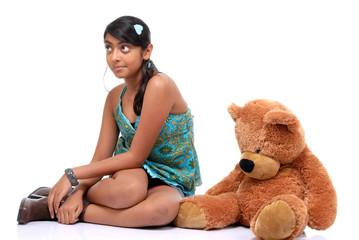 Pretty girl with Teddy Bear