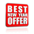 best New Year offer red banner