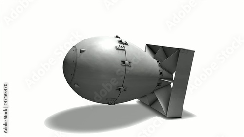 Fat Man Atomic bomb drop simulation, matte included.