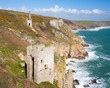 Cornish mines on the cliffs