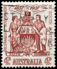 AUSTRALIA - CIRCA 1957 Coat of Arms