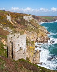 Cornish mines on the cliffs