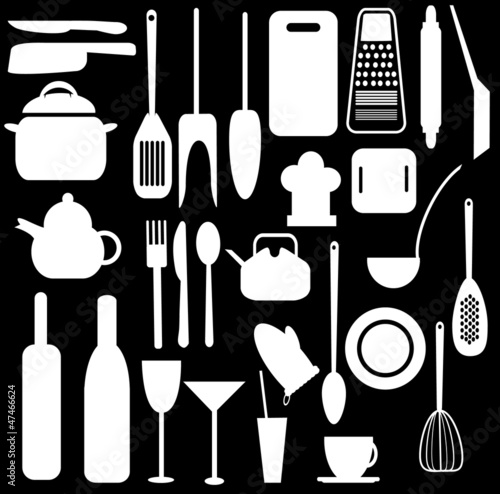 Kitchen utensils vector design