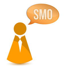 businessman smo message