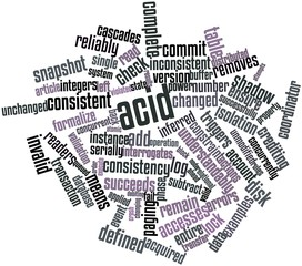 Word cloud for ACID