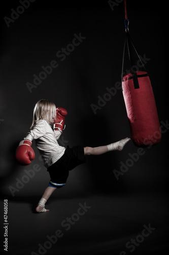kicking kid