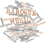 Word cloud for Baroque music