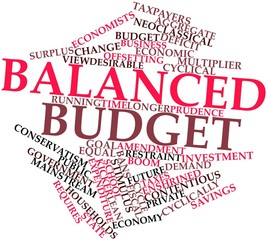 Word cloud for Balanced budget