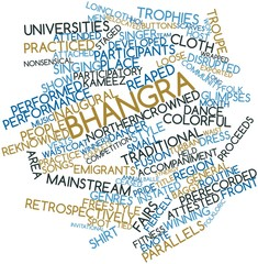 Word cloud for Bhangra