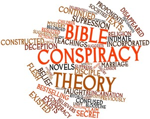 Word cloud for Bible conspiracy theory