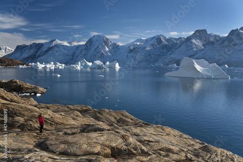 Papiers peints Pôle Northwest Fjord in Scoresbysund - Greenland