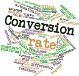 Word cloud for Conversion rate