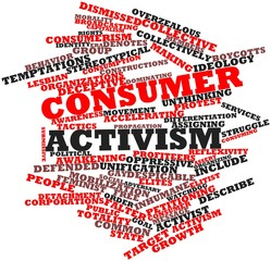 Word cloud for Consumer activism