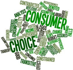Word cloud for Consumer choice