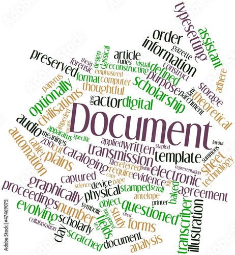 Word cloud for Document