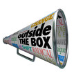 Outside the Box Megaphone Bullhorn Change Innovation