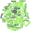 Word cloud for Friend of a friend