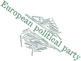 Word cloud for European political party