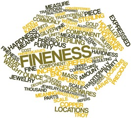 Word cloud for Fineness
