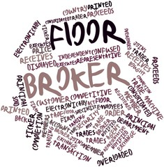 Word cloud for Floor broker