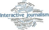 Word cloud for Interactive journalism
