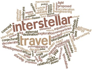 Word cloud for Interstellar travel