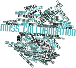 Word cloud for Mass collaboration