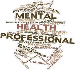 Word cloud for Mental health professional