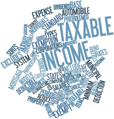 Word cloud for Taxable income