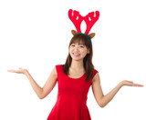 asian christmas girl