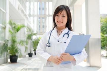 asian female medical student.