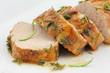 Sliced pork tenderloin or sirloin in herbs and honey glaze