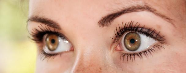 Cute Girl Looking With Hazel Eyes