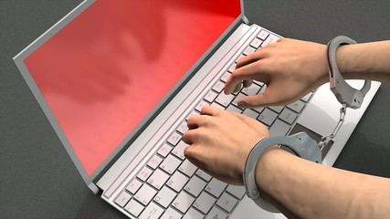Cyber crime concept anmation.