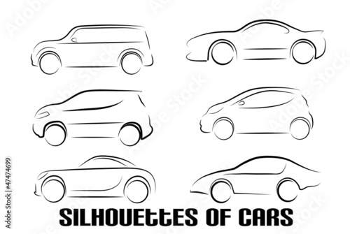 abstract silhouette of cars