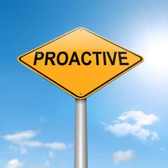Proactive concept.