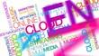 Cloud computing web media streaming apps tag cloud video