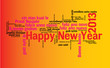 WEB ART DESIGN TAG CLOUD HAPPY NEW YEAR CELEBRATION   01 0