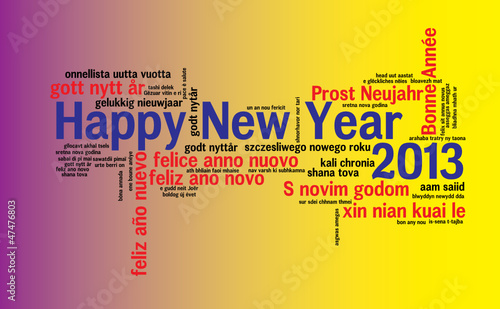 WEB ART DESIGN TAG CLOUD HAPPY NEW YEAR CELEBRATION   050