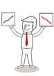 Geschäftsmann mit Charts