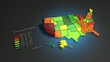 US unemployment rate(October 2012), animated infographic.