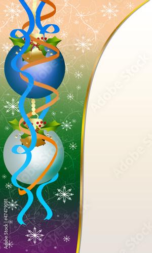 """Christmas Card """"Balls"""""""