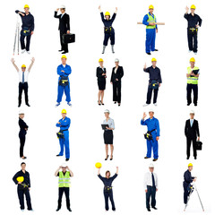 Collection of construction workers