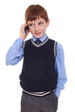 Little boy calling by phone