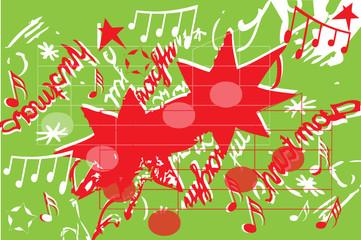 Weihnachtsmotiv mit Noten